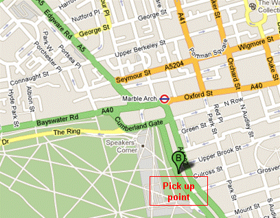 Map to Park Lane